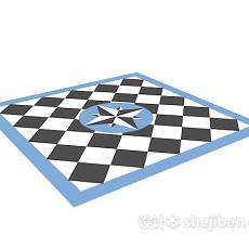格纹地毯3d模型下载