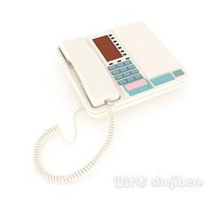 现代电话座机3d模型下载