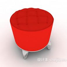 欧式家居沙发凳3d模型下载