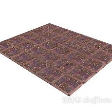 紫色地毯3d模型下载