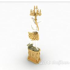 欧式精美灯具装饰3d模型下载