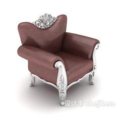 欧式雕花沙发3d模型下载