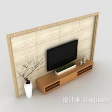 居家电视墙3d模型下载