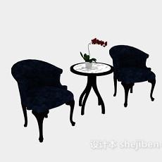 欧式单人休闲椅3d模型下载