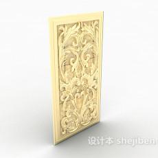 金色浮雕3d模型下载