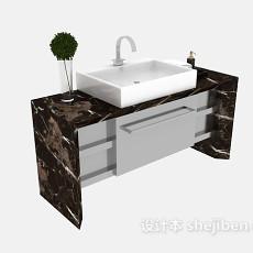 大理石洗面台3d模型下载