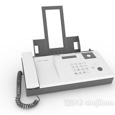 办公传真机3d模型下载