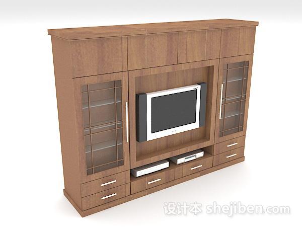实木电视墙柜