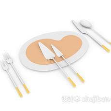 西餐刀具3d模型下载