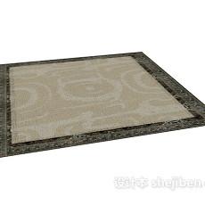 简单居家地毯3d模型下载