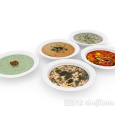 四菜一汤家庭主食3d模型下载
