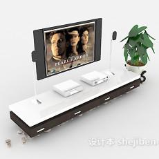 简约大方电视柜3d模型下载