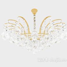 居家客厅水晶吊灯3d模型下载