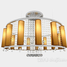 居家大型吊灯3d模型下载