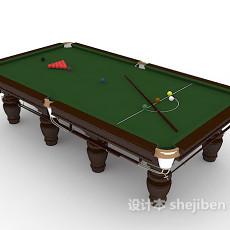 常见娱乐台球桌3d模型下载