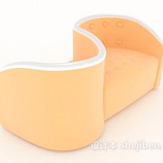 S型沙发3d模型下载