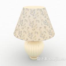 田园花朵台灯3d模型下载