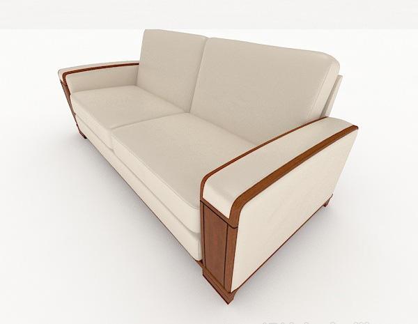 新中式简约双人沙发