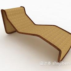 藤编躺椅3d模型下载