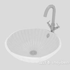 卫生间洗脸盆3d模型下载