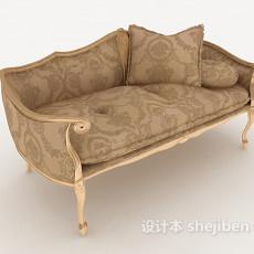欧式花纹双人沙发3d模型下载