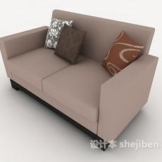 现代居家双人沙发3d模型下载