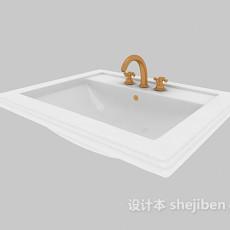 简单居家洗脸盆3d模型下载