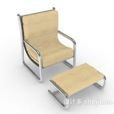 单人现代休闲椅3d模型下载