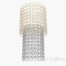 现代家居水晶吊灯3d模型下载