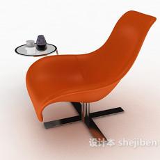 橙色休闲椅3d模型下载