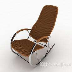 现代简约摇椅3d模型下载