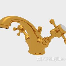 金色家居水龙头3d模型下载