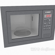 简单微波炉3d模型下载