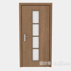 简单办公室门3d模型下载