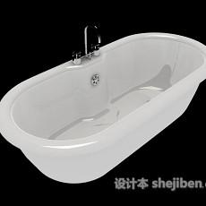 家居简单浴缸3d模型下载