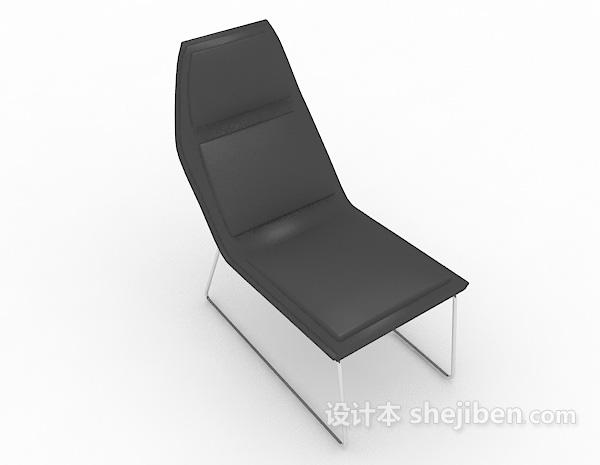 简约黑色休闲椅子
