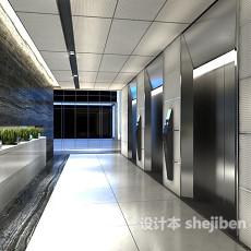 办公区电梯走廊3d模型下载