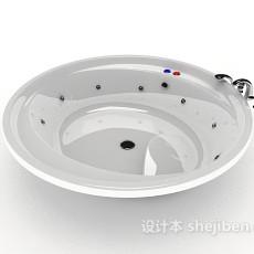 现代家居浴缸3d模型下载