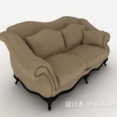 欧式简约双人沙发3d模型下载