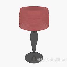 家居红色台灯3d模型下载