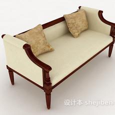 简单欧式多人沙发3d模型下载
