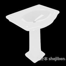 立式家居洗手池3d模型下载
