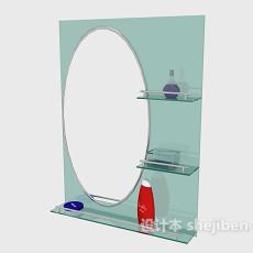 现代简单卫浴镜3d模型下载