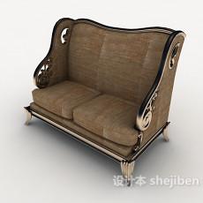 精致欧式双人沙发3d模型下载
