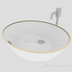 家居洗手盆3d模型下载