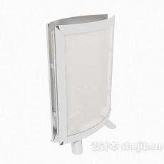 落地方形灯箱3d模型下载