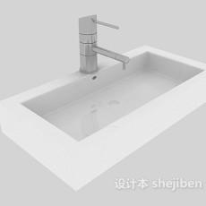 现代简单洗手池3d模型下载