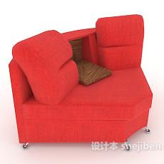 现代单人沙发3d模型下载