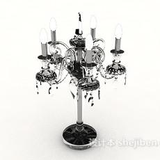 欧式复古黑色烛台灯3d模型下载