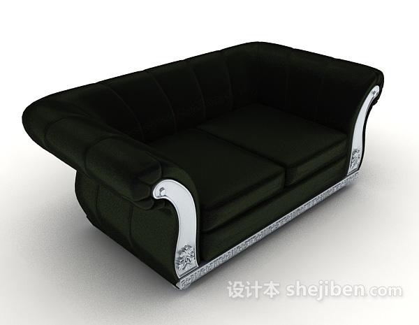 深绿色双人沙发